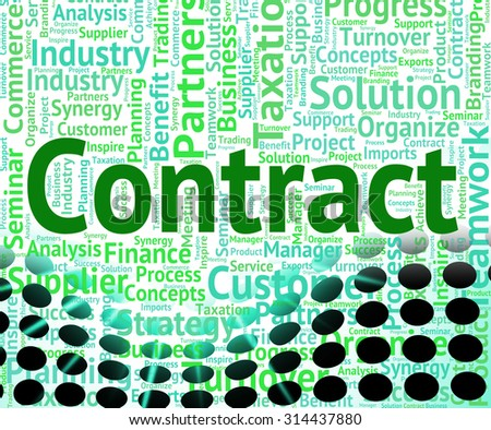 Contract Word Indicating Compact Contractual And Wordclouds