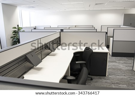 Contracted office work place