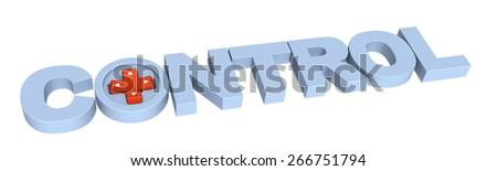 Control  - stock photo