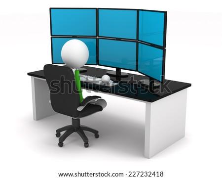 Control center - stock photo