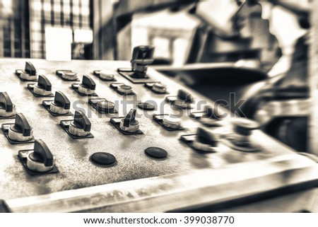 Control center for heavy industry. - stock photo