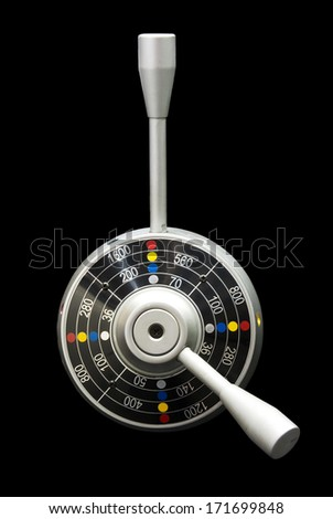 Control levers isolated on black  - stock photo