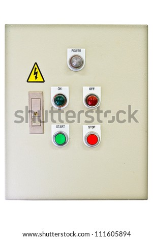 Control panel. - stock photo