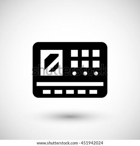 Control panel icon isolated on grey - stock photo