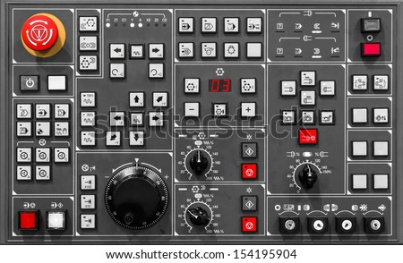 Control panel texture with lots of buttons - stock photo