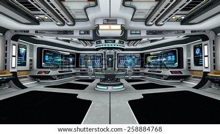 control room - stock photo
