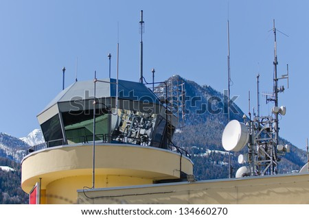 Control tower - stock photo