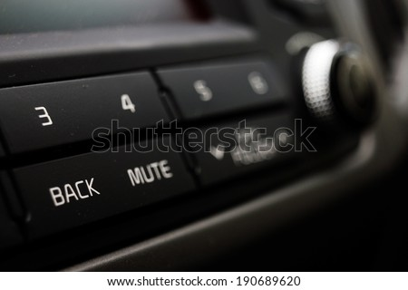 control your music in the car - stock photo
