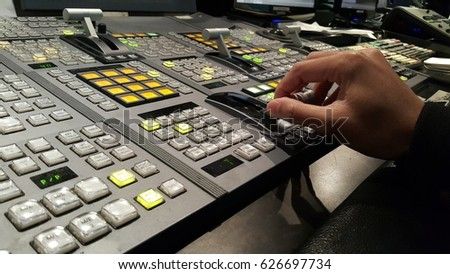 Controlled in a broadcast studio