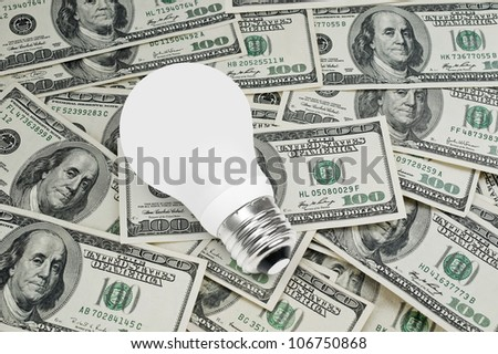 Conventional light bulb - stock photo