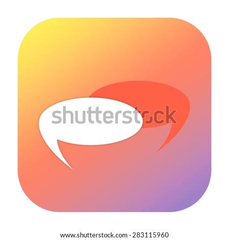 Conversation icon - stock photo