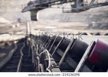 conveyor belt - stock photo