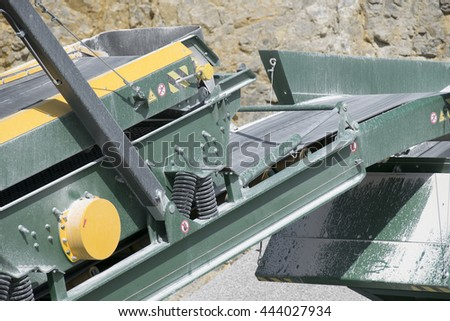 Conveyor belt in the mine