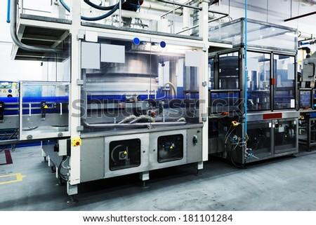 conveyor working - stock photo