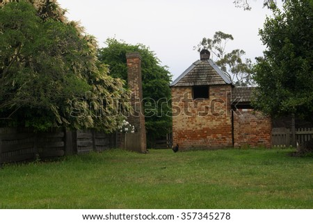 convict buildings in historic world heritage longford brickendon area tasmania