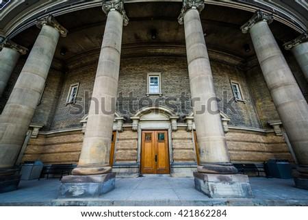 Convocation Hall, at the University of Toronto, in Toronto, Ontario. - stock photo