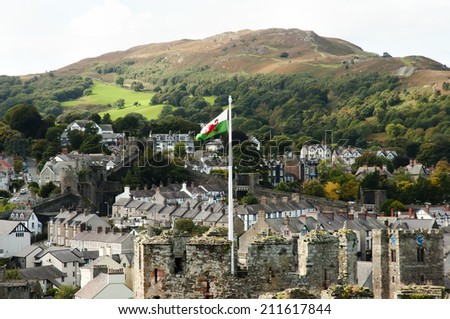 Conwy - Wales - UK - stock photo