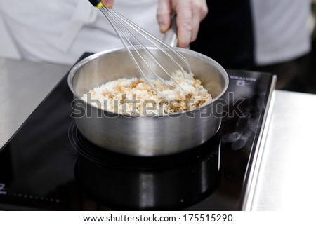 Cook  caramel - stock photo