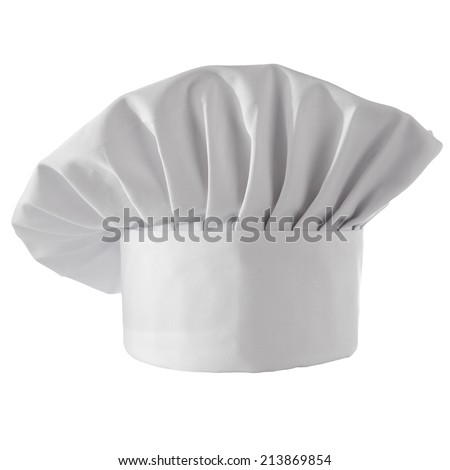 cook hat on white  - stock photo