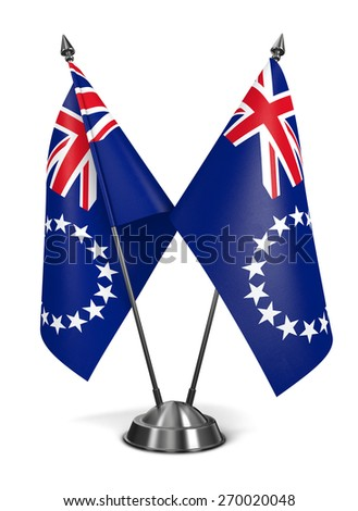 Cook Islands - Miniature Flags Isolated on White Background. - stock photo