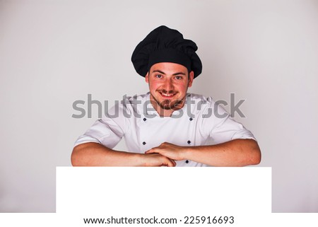 cook on a white background with relies space for writing