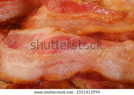 cooked bacon rashers background