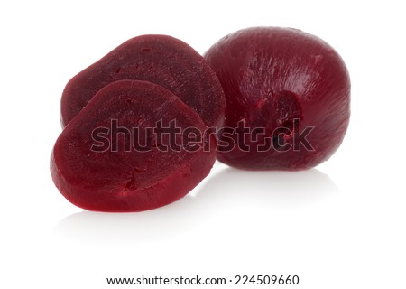 Cooked beets focus on slice - stock photo