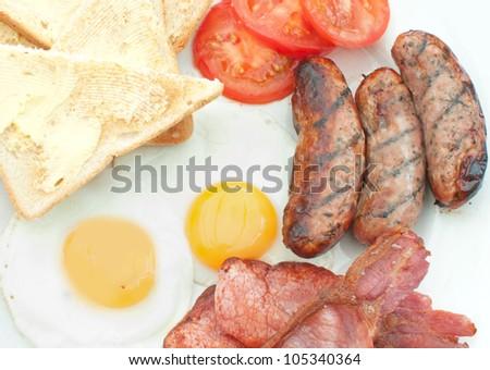 Cooked breakfast - stock photo