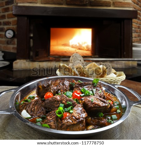cooked meat - stock photo