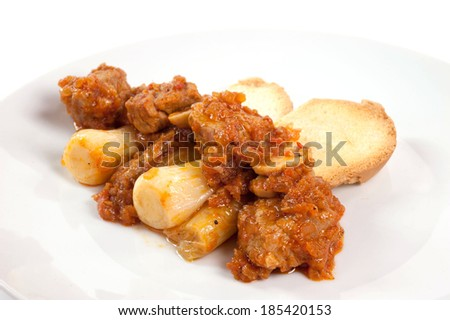 cooked meat in the pot