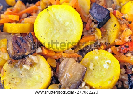 Cooked vegetable food - stock photo