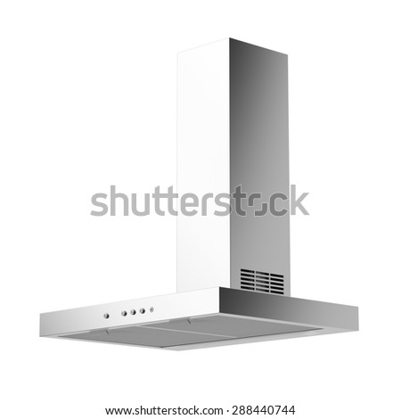 Cooker hood isolated on white background - stock photo
