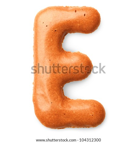 cookie alphabet letter E
