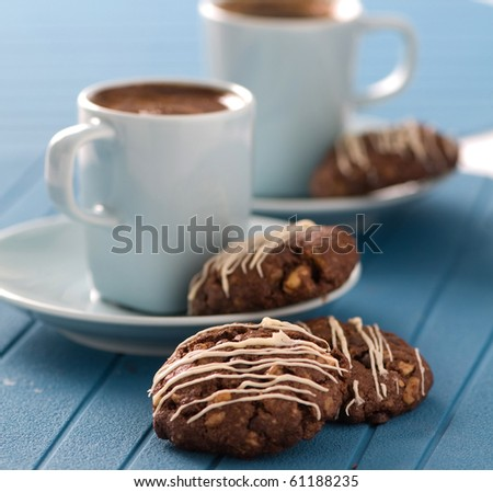 cookie and coffee - stock photo