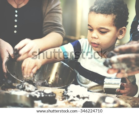 Cookie Bake Bakery Child Dessert Discovery Leisure Concept - stock photo