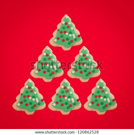Cookie Christmas Tree - stock photo