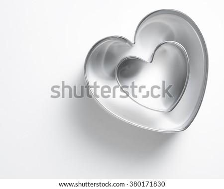 cookie cutter on white table. - stock photo