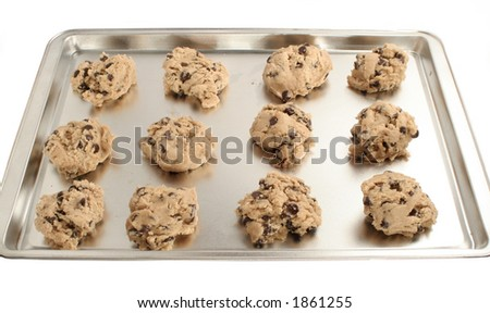 cookie dough ready for baking - stock photo