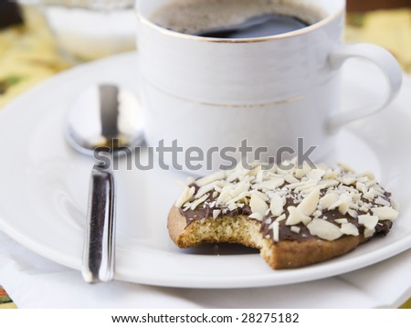 cookie eated with a coffee - stock photo