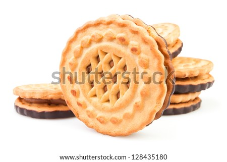 cookie group on white background
