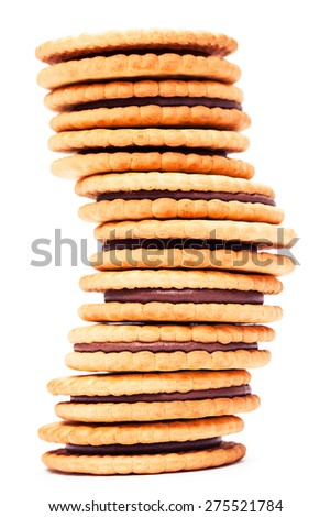 Cookie on a white background