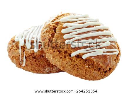 cookie on white - stock photo