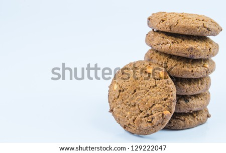Cookie on white backgrounds.