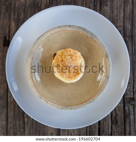 Cookie on white dish - stock photo