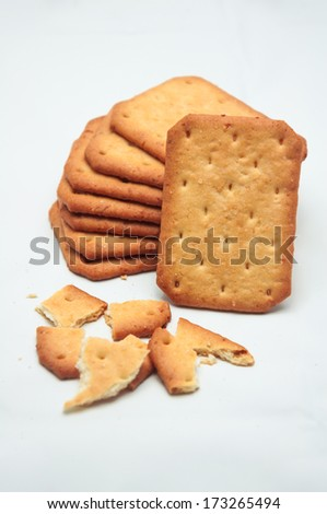 cookie texture on white background