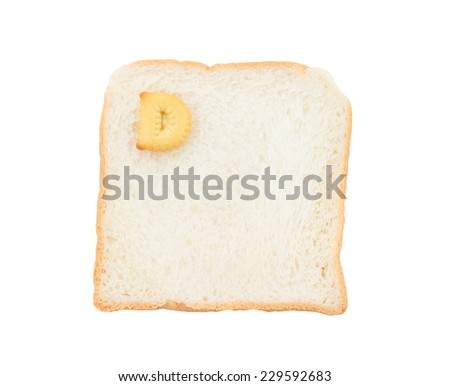 Cookies ABC with bread containing letters - D,  isolated on white background