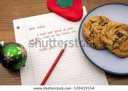 Cookies and a letter for Santa.
