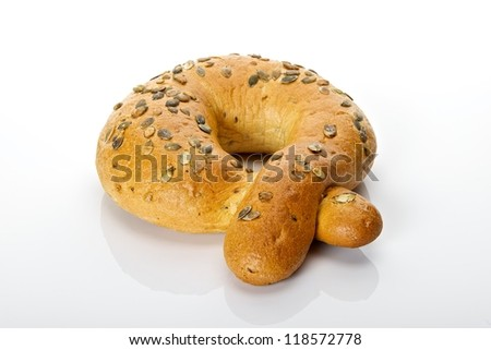 Cookies and sweets for breakfast - stock photo