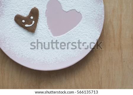 Cookies nền cho Valentines ngày bưu thiếp