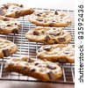 cookies cooling on cooling rack - stock photo